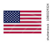 flag icon  colored usa flag ... | Shutterstock .eps vector #1080329324