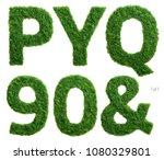 alphabet set of photographed... | Shutterstock . vector #1080329801