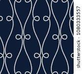 seamless nautical rope pattern. ... | Shutterstock .eps vector #1080333557