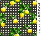 seamless citrus pattern.hand... | Shutterstock .eps vector #1080334649
