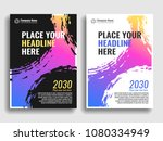 a collection of covers with... | Shutterstock .eps vector #1080334949