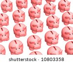 background   lot of 3d pigs of... | Shutterstock . vector #10803358