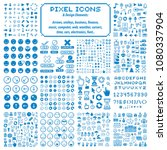 vector pixel icons isolated ...   Shutterstock .eps vector #1080337904