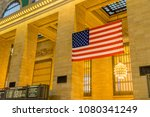 american flag hanging in the... | Shutterstock . vector #1080341249