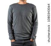 studio shot of man wearing...   Shutterstock . vector #1080343064