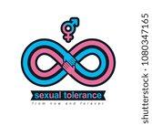 sexual tolerance conceptual...   Shutterstock .eps vector #1080347165
