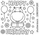 coloring page. vector... | Shutterstock .eps vector #1080349289