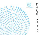 futuristic cybernetic scheme ...   Shutterstock .eps vector #1080351677