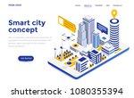 modern flat design isometric... | Shutterstock .eps vector #1080355394