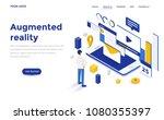 modern flat design isometric... | Shutterstock .eps vector #1080355397