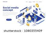 modern flat design isometric... | Shutterstock .eps vector #1080355409