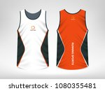 sleeveless sport t shirt design | Shutterstock . vector #1080355481