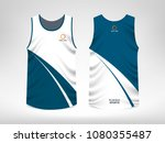 sleeveless sport t shirt design | Shutterstock .eps vector #1080355487