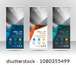 roll up banner stand template... | Shutterstock .eps vector #1080355499