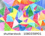 Triangles Painted With Colored...