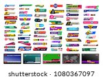 set of tv news bars. design... | Shutterstock .eps vector #1080367097