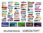 set of tv news bars. design... | Shutterstock .eps vector #1080367097