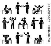 Stick Figure Business Man Icon...