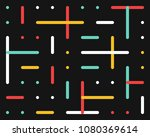 color retro pattern of lines... | Shutterstock .eps vector #1080369614
