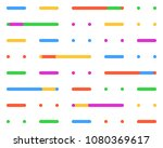 color retro pattern of lines... | Shutterstock .eps vector #1080369617