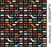 color retro pattern of lines... | Shutterstock .eps vector #1080369974