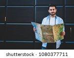 half length portrait of...   Shutterstock . vector #1080377711