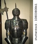 Small photo of Shah Alam ,Selangor , Malaysia - April 2018 : Ottoman warrior armour with steel suit of armour, chain mail and leather. Turkey, 16th century.