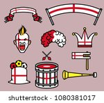 gear kit collection of england... | Shutterstock .eps vector #1080381017