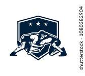 Wrestling Sports Logo