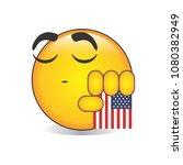 proud american emoji isolated... | Shutterstock .eps vector #1080382949