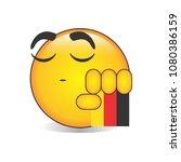 proud german emoji isolated... | Shutterstock .eps vector #1080386159