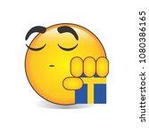 proud swedish emoji isolated... | Shutterstock .eps vector #1080386165