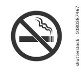 no smoking black color sign on... | Shutterstock .eps vector #1080387467