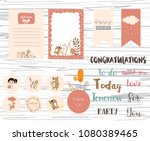 printable label and tag with... | Shutterstock .eps vector #1080389465