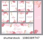 pink tropical greeting card... | Shutterstock .eps vector #1080389747