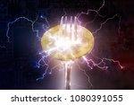 bitcoin or altcoin digital... | Shutterstock . vector #1080391055
