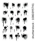 spray paint black drops... | Shutterstock .eps vector #1080395741