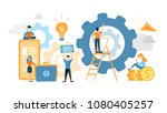 system building illustration.... | Shutterstock .eps vector #1080405257