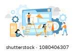 site development illustration.... | Shutterstock .eps vector #1080406307