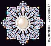 mandala brooch jewelry  design... | Shutterstock .eps vector #1080408167