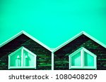 abstract double triangle angled ... | Shutterstock . vector #1080408209