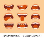 expressive cartoon human mouth... | Shutterstock .eps vector #1080408914