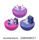 chemistry 3d isometric research ... | Shutterstock .eps vector #1080408917