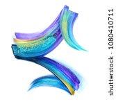 creative brush stroke clip art... | Shutterstock . vector #1080410711