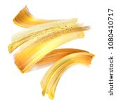 creative gold brush stroke clip ... | Shutterstock . vector #1080410717