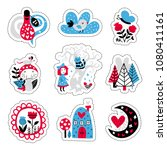 fairytale cute elements. color... | Shutterstock .eps vector #1080411161
