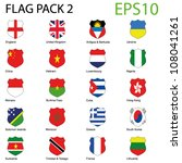 eps10 vector shield flags  ... | Shutterstock .eps vector #108041261