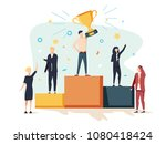 vector illustration. people... | Shutterstock .eps vector #1080418424