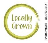 green khaki locally grown food... | Shutterstock .eps vector #1080420815