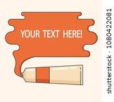 paint spilling from paint tube. ... | Shutterstock .eps vector #1080422081